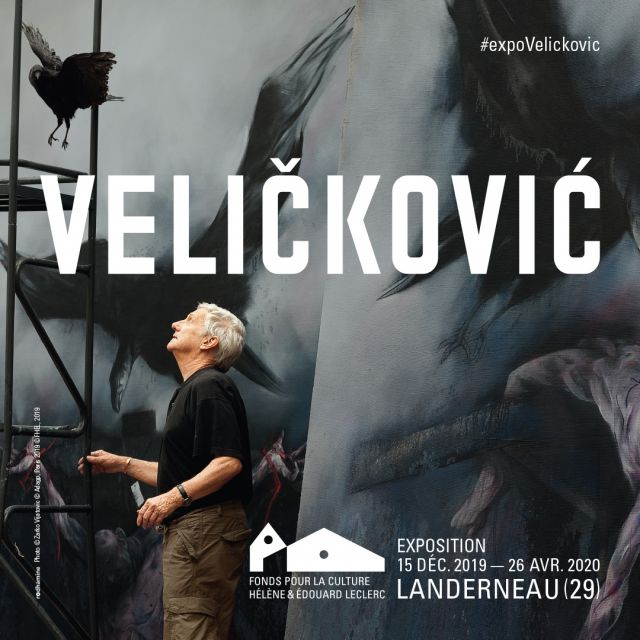 "Affiche de l'exposition ""Velickovic"" — Photo © Zarko Vijatovic © Adagp, Paris 2019  — © FHEL 2019"